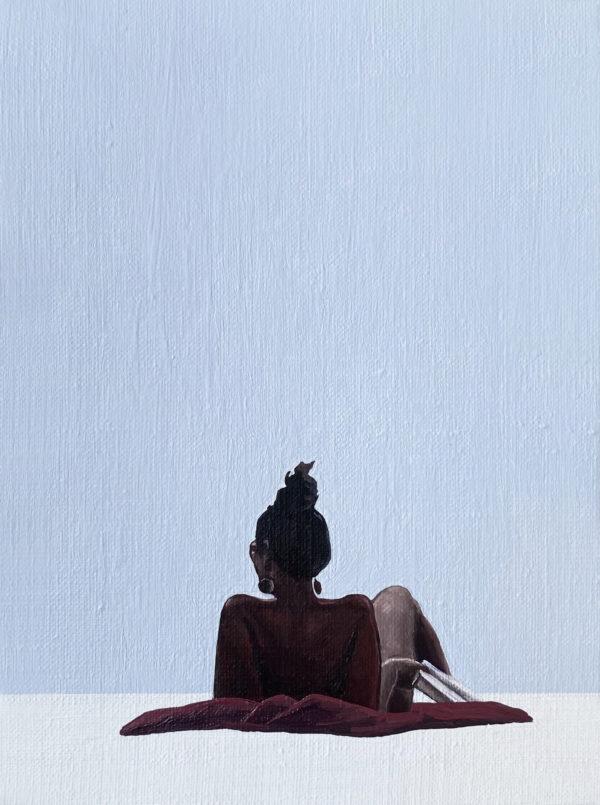 Memento mori, 2021, oil on canvas, 24x18 cm