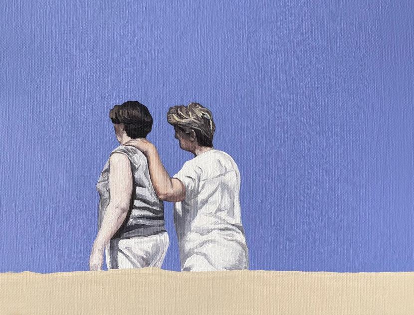 Non omnis moriar II, 2021, oil on canvas, 18x24 cm